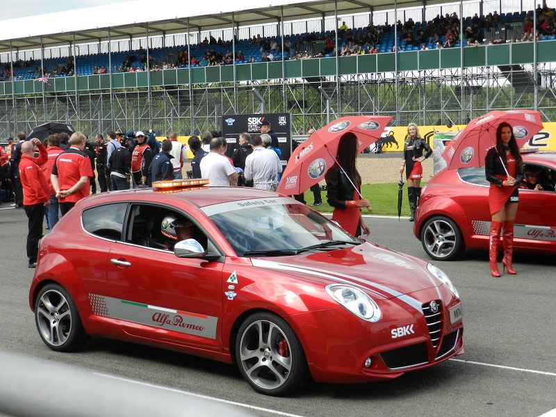 Autovaletdirect Franchisee Richard Wagstaff attends the World Superbike event at Silverstone August 2012 for Alfa Romeo
