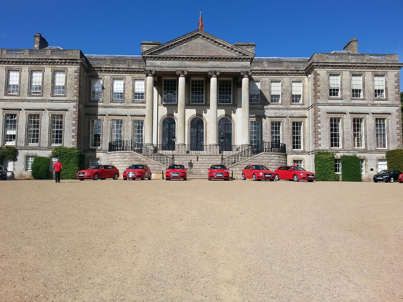 Audi ride and drive event at Ragley Hall showcasing the new Audi A3 E tron.
