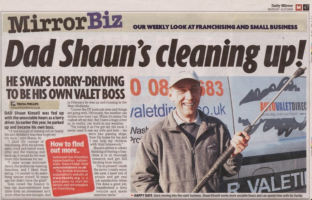 The car valeting franchise with a difference
