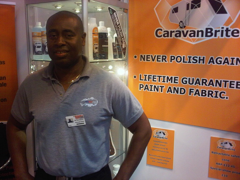 Autovaletdirect franchise at the NEC Birmingham promoting Caravanbrite