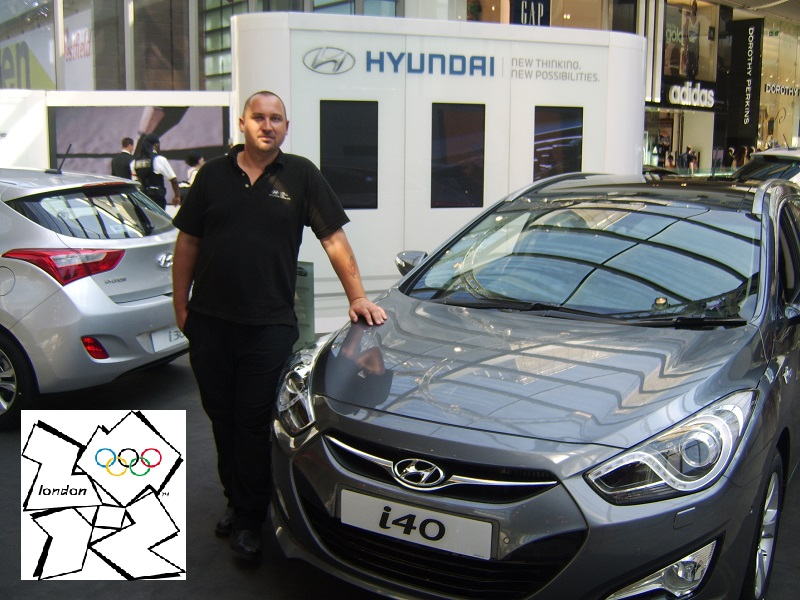Autovaletdirect Franchisees Matt Johnson at London 2012 Hyundai Stand