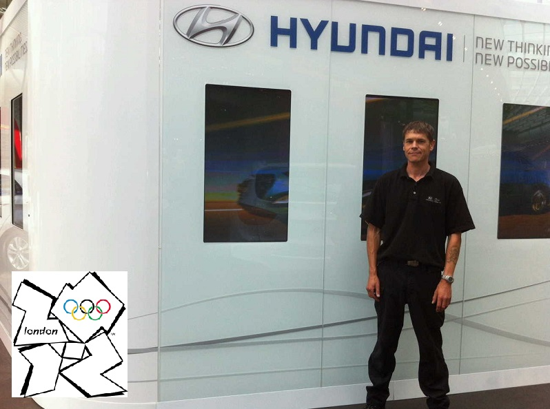 Autovaletdirect Franchisees Nick Lockyer at London 2012 Olympic Hyundai Stand