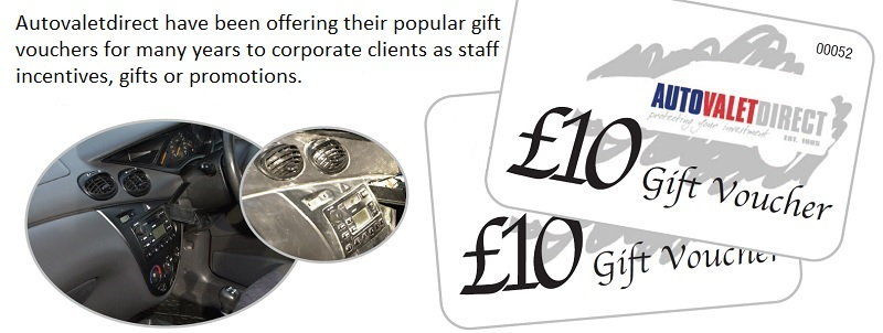 Autovaletdirect franchise gift vouchers attracting corporate clients