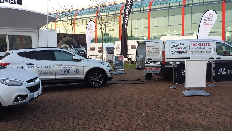Autovaletdirect supply event valeting services for Hyundai at the Caravan and Motorhome show