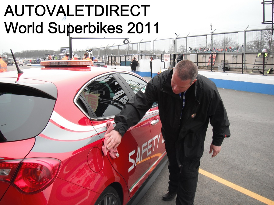 Autovaletdirect franchise owner attends World Superbike Event, Donington Park.