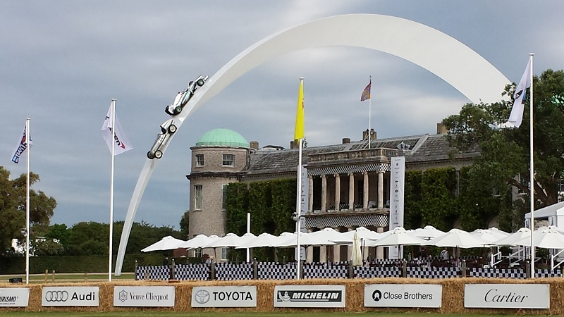 Autovaletdirect franchisees look after vehicles at the Goodwood Festival of Speed 2014