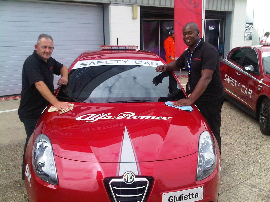 Autovaletdirect franchisees attend World Superbike Championship at the Silverstone for Alfa Romeo