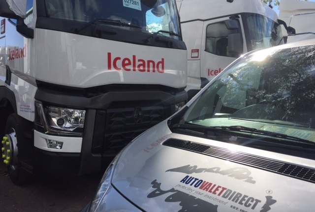 Autovaletdirect prepare and valet the new Iceland Foods truck fleet