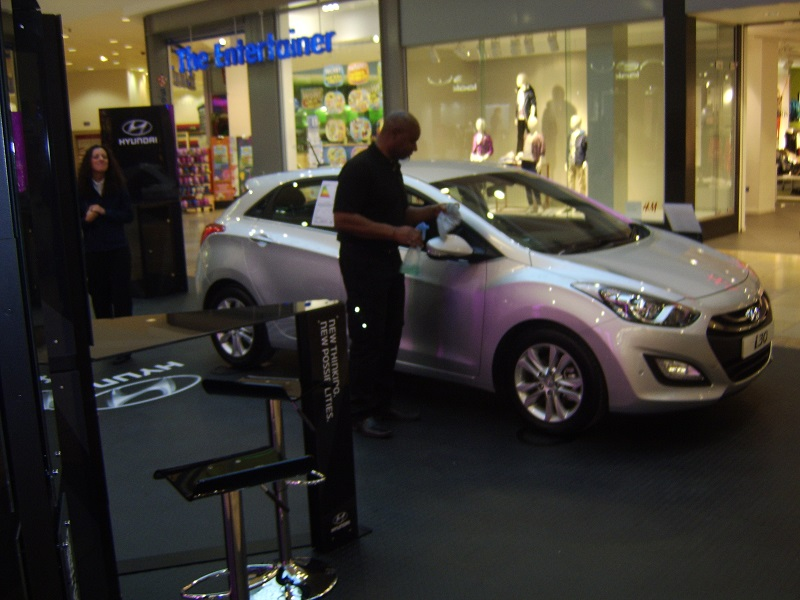 Autovaletdirect franchisee helps out at launch of new Hyundai 130