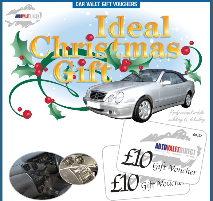 Car Valeting Christmas Gift Vouchers.