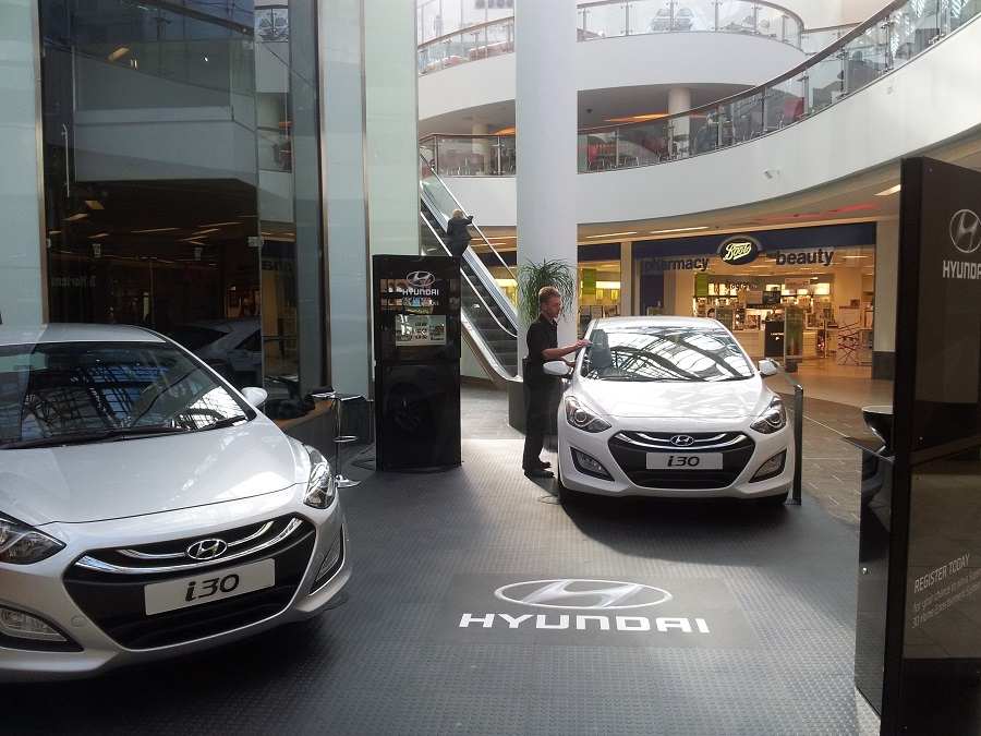 The Hyundai i30 Road Show attended by Shaun Kinsell at St Enoch Centre, Glasgow