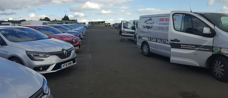 Autovaletdirect at Knockhill Racing Circuit in Scotland for the Renault Range Roadshow