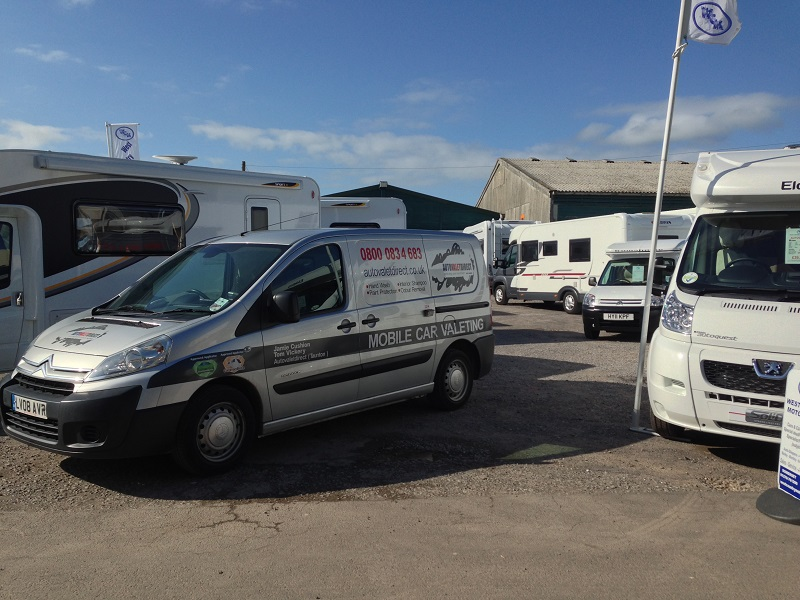 Autovaletdirect franchisees valet and prepare fifty motorhomes in three days