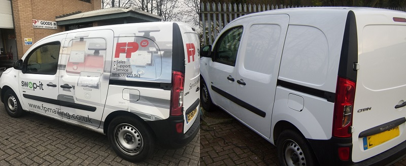 Vehicle graphics and sign writing removal in Wales