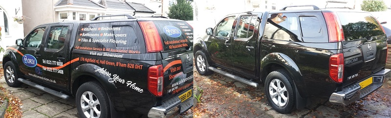 Vehicle graphics and sign writing removal in East Sussex