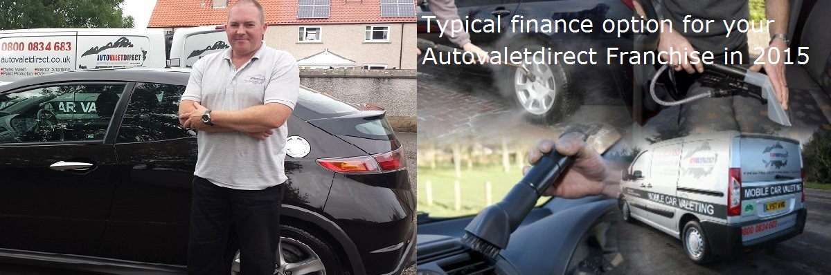 Typical finance option for your Autovaletdirect Franchise