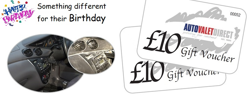 Birthday Car Valeting Gift Vouchers