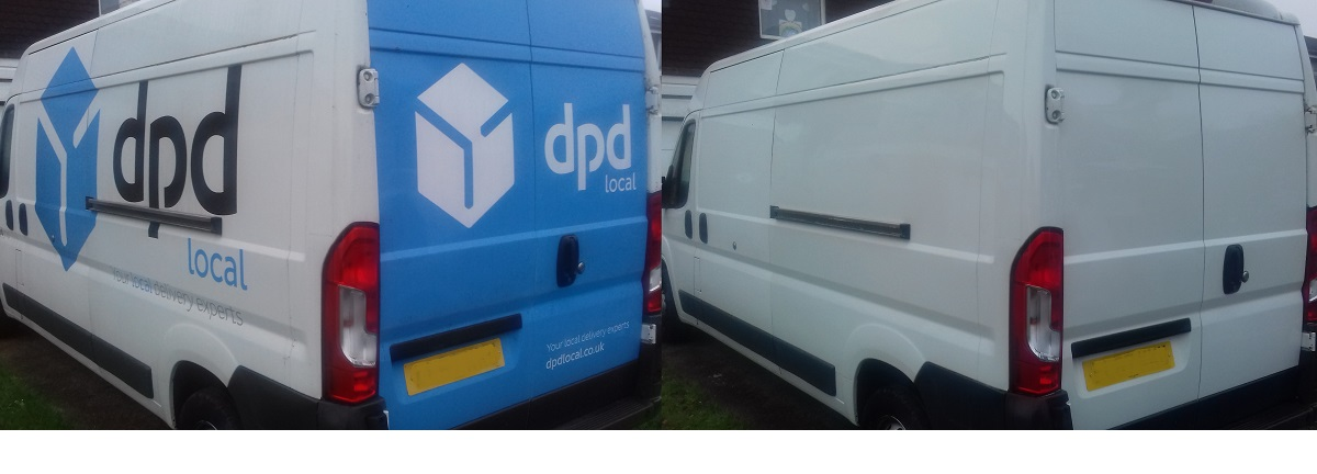 Vehicle graphics and sign writing removal