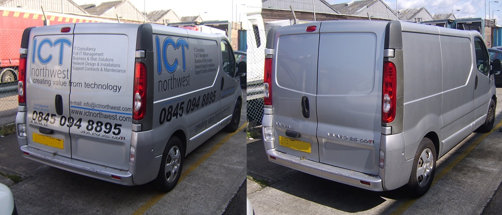 Vehicle graphics and sign writing removal in Hertfordshire