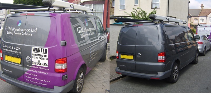 Vehicle graphics and sign writing removal in London